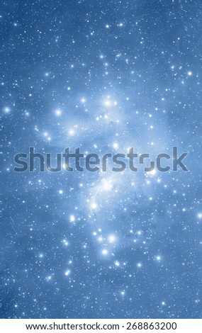 Milky way stars. Stars are mosaic of my astrophotography photos. - stock photo