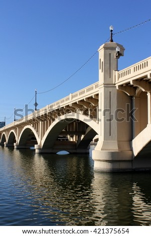 Mill Ave Bridge - stock photo