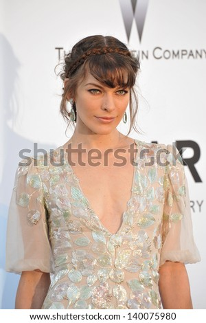 Milla Jovovich at amfAR's 20th Cinema Against AIDS Gala at the Hotel du Cap d'Antibes, France May 23, 2013  Antibes, France - stock photo