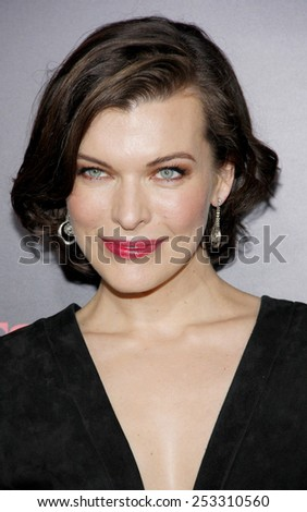 "Milla Jovovich at the Los Angeles premiere of ""Resident Evil: Retribution"" held at the Regal Cinemas L.A. Live in Los Angeles, California, United States on September 12, 2012. - stock photo"