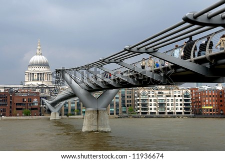 millenium bridge and london