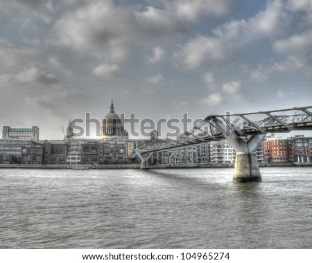 Millennium Bridge - stock photo