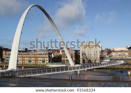 Millennium Bridge , Newcastle-upon-Tyne - stock photo