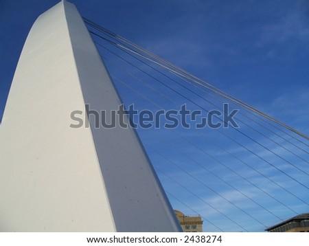 Millennium bridge on river Tyne - stock photo