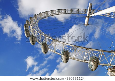 Millennium Wheel, London, UK  - stock photo