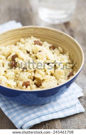 Millet porridge - stock photo