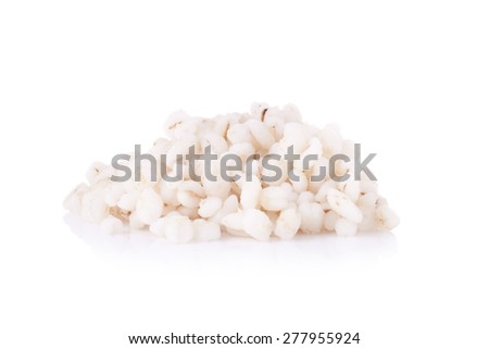 Millet rice on white background