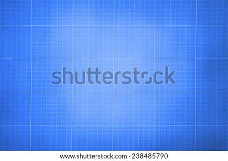 Millimeter engineering paper. Blue graph paper background. Graph paper for building and architectural drawings - stock photo