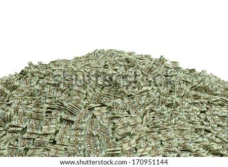 Millions of Dollars - stock photo