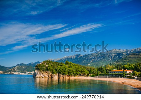 Milocer beach - stock photo