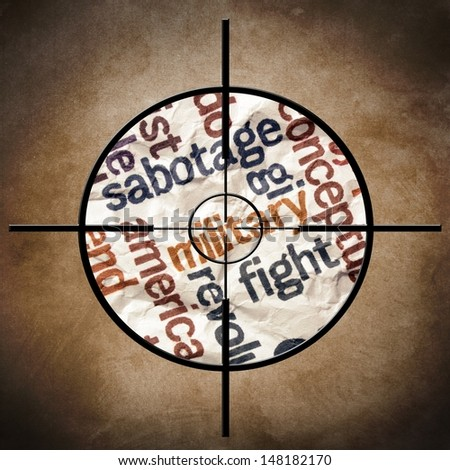 Miltary target - stock photo