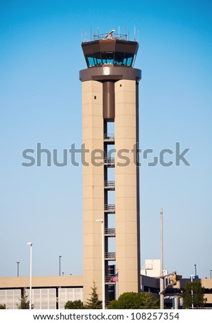 Milwaukee Airport - distant view of the control tower