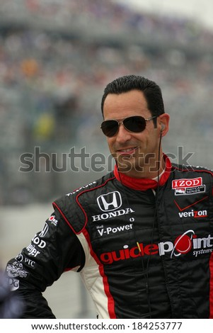 MILWAUKEE, WISCONSIN, USA - JUNE 19, 2011: No. 3 Helio Castroneves, Brazil Team Penske