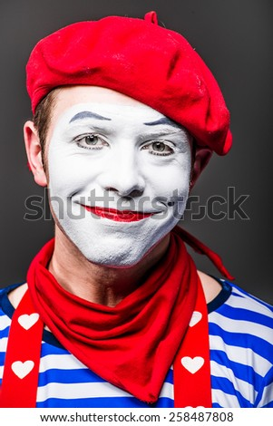 mime smiling - stock photo