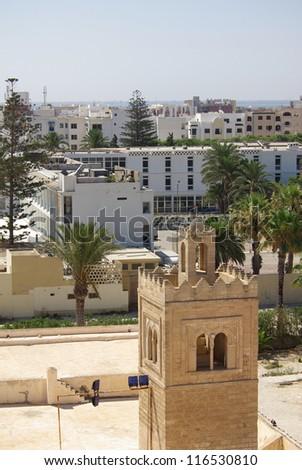Minaret in Monastir inTunisia, Africa - stock photo