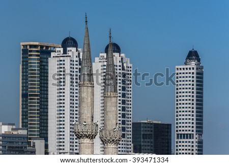 Minarets ans Skyscrapers at Mecidiyekoy