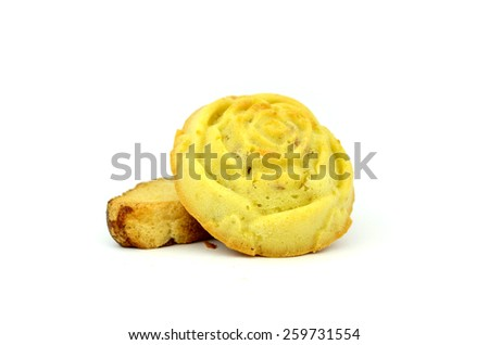 mince pie (object isolated on white background) - stock photo