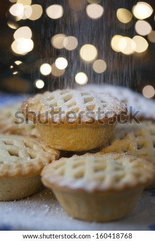 Mince pies - stock photo