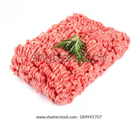 minced meat isolated