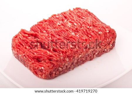 minced meat, meat recipes made on the farm