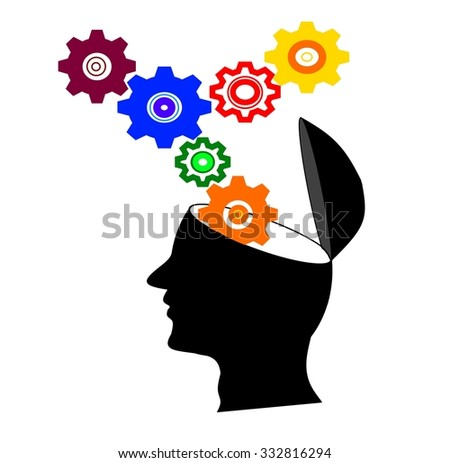Mind at work - stock photo