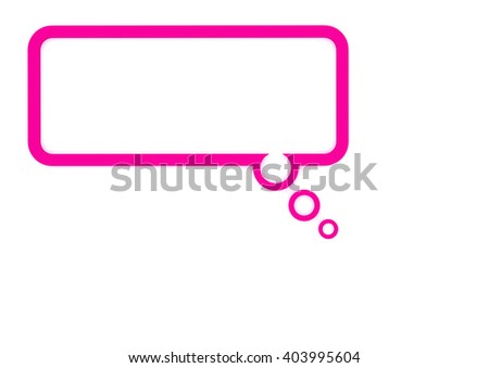 Mind Bubble pink - stock photo