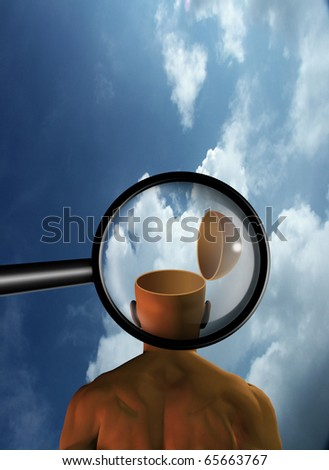 Mind Inspection - stock photo