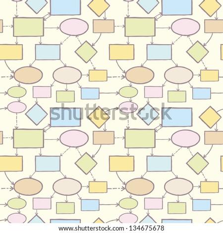 Mind map raster seamless pattern background template - stock photo