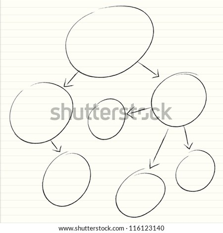 mind mapping, diagram - stock photo