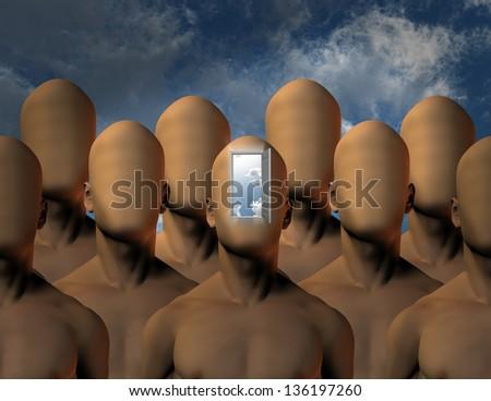 Mind opening - stock photo