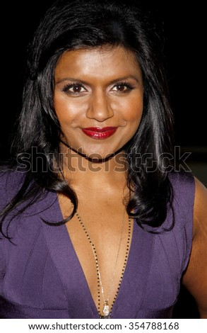 Mindy Kaling at the 22nd Annual Producers Guild Awards held at the Beverly Hilton hotel in Beverly Hills, California, United States on January 22, 2010.  - stock photo