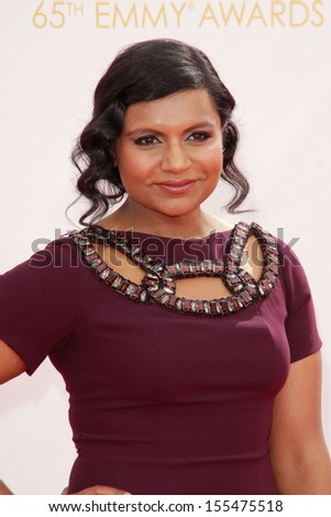 Mindy Kaling at the 65th Primetime Emmy Awards at the Nokia Theatre, LA Live. September 22, 2013  Los Angeles, CA