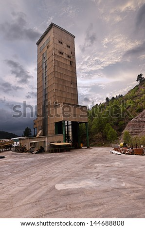 Mine of Potash - stock photo