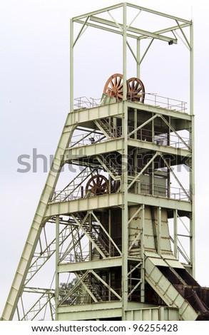 Mine Shaft at a gold mine near Johannesburg - stock photo