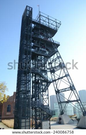 Mine shaft in Katowice (Poland) - stock photo