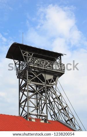 Mine shaft in the famous salt mine in Wieliczka, Poland. - stock photo
