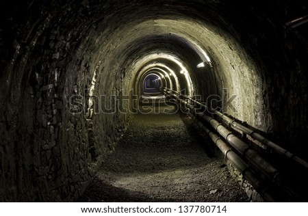 Mine tunnels 01 - stock photo