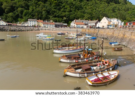 MINEHEAD, SOMERSET, ENGLAND-JULY  9TH  2015: Beautiful summer weather made for calm sailing conditions for locals and visitors at Minehead harbour, Somerset on Thursday 9th July 2015