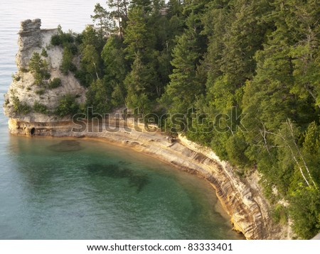 Miner's Castle in Pictured Rocks National Lakeshore in Michigan's Upper Peninsula on Lake Superior.