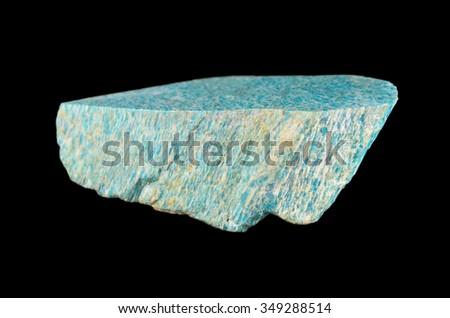 Mineral  Amazonite (microcline feldspar) - stock photo