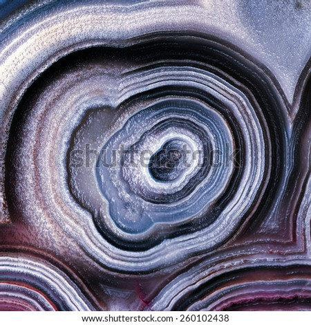 Mineral,colored agate with nacre - stock photo
