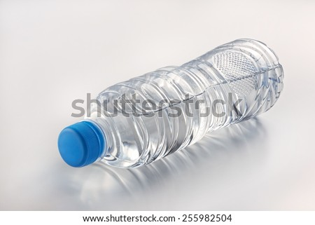 Mineral drinking water ion a clean background - stock photo