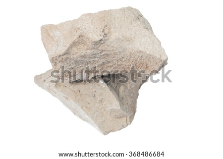 Mineral  marlstone  isolated on white