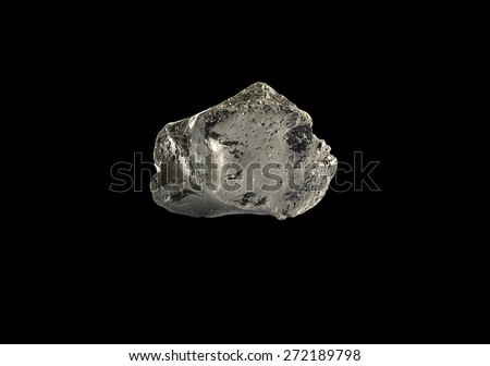 mineral Obsidian ( volcanic glass) - stock photo