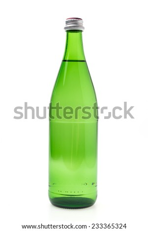 Mineral water bottle isolated on white background
