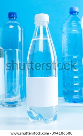Illustration with tips on saving water consumption by man in a house - Cartoon Water Bottle Stock Vector 149907986 Shutterstock