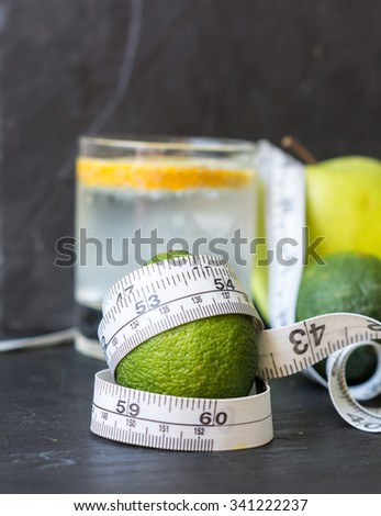 mineral water  with apple and lime