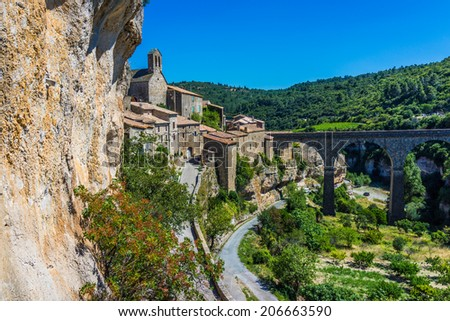 Minerve village in France in summer sun