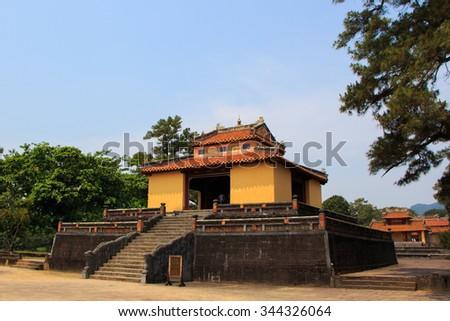 Minh Lau Pavilion. The Citadel, Hue, Vietnam. Unesco World Heritage Site. Forbidden City. Hue Imperial City. - stock photo