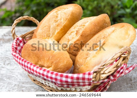 mini baguettes - stock photo